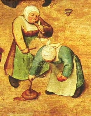 Pieter the Elder Bruegel - Children's Games (detail 10) 1559-60