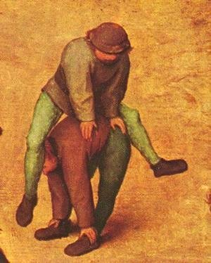 Pieter the Elder Bruegel - Children's Games (detail 12) 1559-60