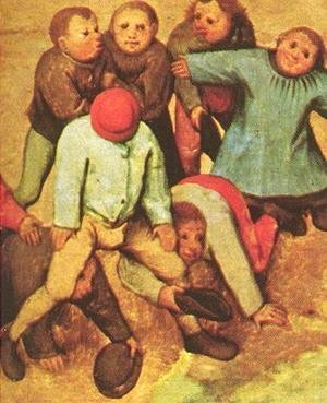 Pieter the Elder Bruegel - Children's Games (detail 15) 1559-60
