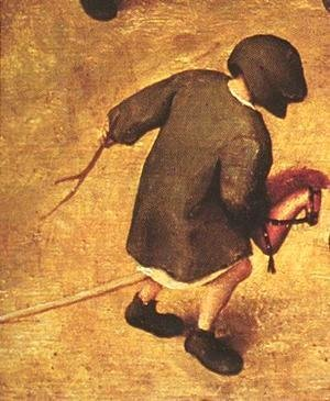 Pieter the Elder Bruegel - Children's Games (detail 16) 1559-60