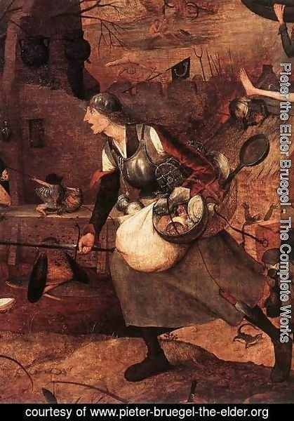 Pieter the Elder Bruegel - Dulle Griet (detail 2) c. 1562