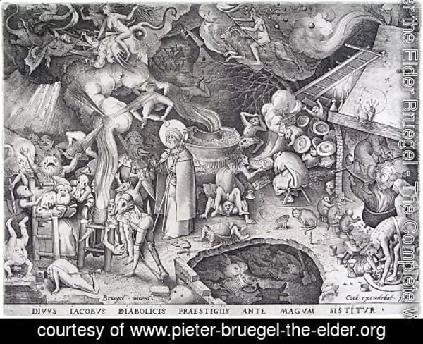 Pieter the Elder Bruegel - St James the Greater at Hermogenes 1565
