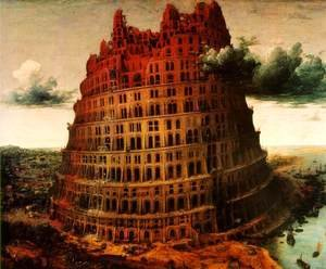 Pieter the Elder Bruegel - The Little Tower of Babel c. 1563