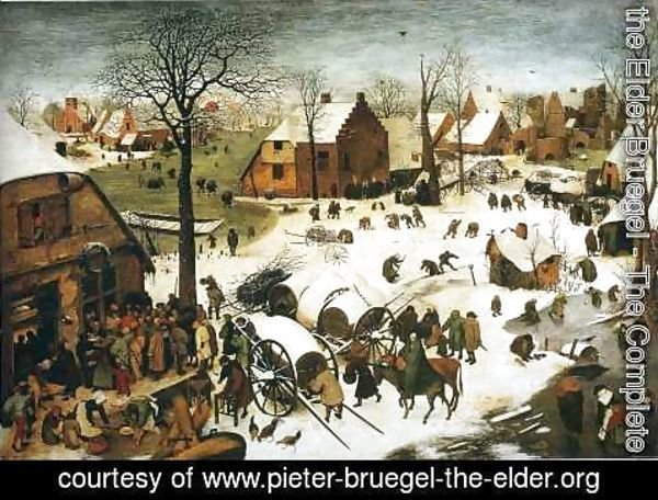 Pieter the Elder Bruegel - The Numbering at Bethlehem 1566