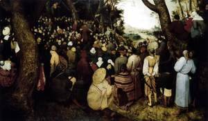 Pieter the Elder Bruegel - The Sermon of St John the Baptist 1566