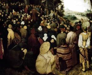 Pieter the Elder Bruegel - The Sermon of St John the Baptist (detail 1) 1566