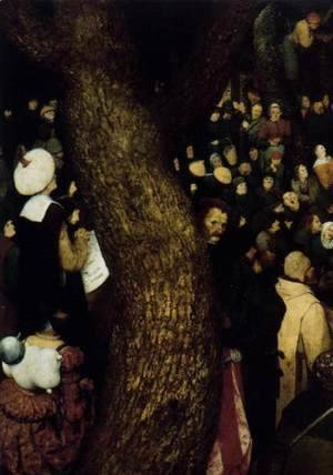 Pieter the Elder Bruegel - The Sermon of St John the Baptist (detail 2) 1566