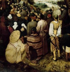 Pieter the Elder Bruegel - The Sermon of St John the Baptist (detail 7) 1566