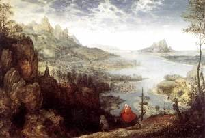 Pieter the Elder Bruegel - Landscape with the Flight into Egypt 1563