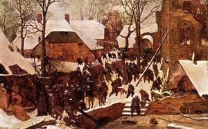 Pieter the Elder Bruegel - The Adoration of the Kings in the Snow 1567