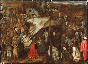 Pieter the Elder Bruegel - The Adoration of the Kings 1556-62