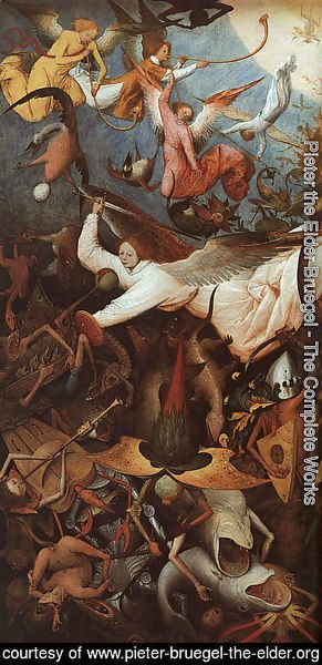 Pieter the Elder Bruegel - The Fall of the Rebel Angels (detail) 1562