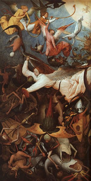 The Fall of the Rebel Angels (detail) 1562