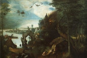 Pieter the Elder Bruegel - The Temptation of Saint Anthony 1555-58